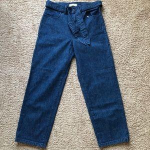 Madewell Denim Tie-waist tapered pants
